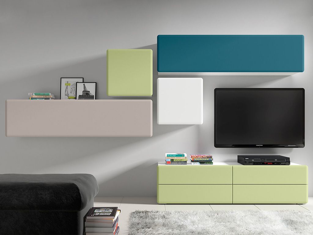 польская мебель Possi Light Brw набор модульной мебели для гостиной
